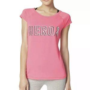 NWT Hero Breast Cancer Awareness Short Sleeves Top